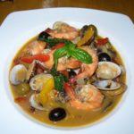 夏野菜と海鮮のワイン蒸し