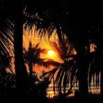 バリ島旅行(4日目) ホテル・パドマ クラブルームからの夕陽