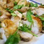魚焼きグリルでガイヤーン タイ料理 鶏肉(もも、手羽元)のタレ付け焼き