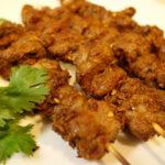 料理 中国東北/新疆料理 羊肉串(ラム肉串)と孜然羊肉(ラム肉のクミン炒め)Lamb Kebab and Cumin Lamb