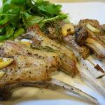 ラム肉のオーブン焼き &自転車日記   Oven baked Lamb chops