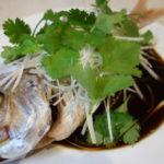 清蒸鮮魚(鮮魚の広東風姿蒸し)