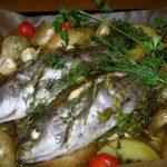 白身魚(イサキ)の香草焼き