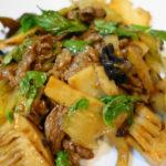 【中華】【レシピ】牛肉とセロリのトウチ炒め