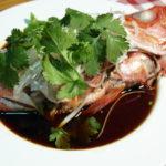 金目鯛の清蒸鮮魚(鮮魚の広東風姿蒸し)