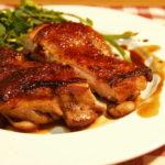 鶏肉の赤ワイン照り焼き(chikin teriyaki )