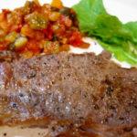 牛ステーキのラタトゥイユ添え イタリアンなすびのソテー