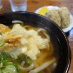 博多うどんにしてはコシあり平麺はつるっと!サクッと揚げたてごぼう天!「うどん平(たいら)」