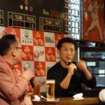 カープOB 梵英心(そよぎえいしん)トークイベント 神田 広島お好み焼きビックピッグ(BigPig)モデル倉本康子さんも参加!