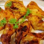 魚焼きグリルで作る本格タンドリー風チキン(グリルdeタンドリー) アルミホイルを敷いて後片付けも楽チン!