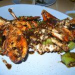 バンコク ソーントンポーチャナー プー・パッ・プリックタイダム(蟹の黒胡椒炒め)2008年タイ旅行
