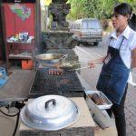 バリ島旅行(2日目) ウブド NACHO MAMAで特大スペアリブの炭焼き