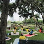 2010タイ旅行記Vo.15 バンコク 朝のルンピニ公園のカオマンガイ屋台と太極拳(Bangkok lumpini park) (9/13)