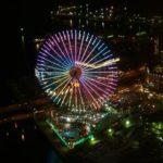 スマホ( ExpreriaZ)と一眼(Olympus)で夜景を撮り比べ 横浜ロイヤルパークホテル ランドマークタワー52Fと70Fからの風景