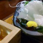 美味しい地酒と名物白イカの刺身 米子 居酒屋 太平記 (鳥取 海の幸)
