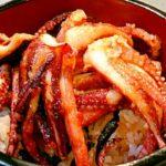 ケンミンショーで紹介されたゲソ丼を作ってみた 残ったイカ本体はお刺身、ワタ和え、バターソテーに