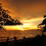 パタヤ ジョムティエンビーチの夕陽 2015/9月タイ旅行 Sunset in Jomtien Beach Pattaya