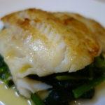 すき身鱈のムニエル レモンバターソース