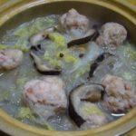 春雨と白菜、海老と豚挽き肉団子スープ