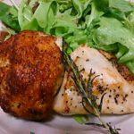 鶏むね肉をマリネしてからフライパンでソテーした後オーブン焼き