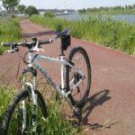 田植え風景と自転車(MTB LOUIS GARNEAU CASPER)新川サイクリングコース