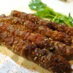 ラム肉の串焼き(ケバブ)新疆料理 羊肉串 Chinese Xinjiang Lamb kebabs Skewers