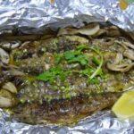 8月7日白身魚(ヤマメ)のホイル焼き