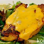 料理 鶏むね肉レモンマリネオープン焼きチェダーチーズのせ