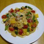 8月20日夏野菜のパスタ
