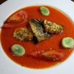 岩魚のソテー夏野菜ソース
