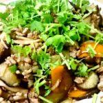 ナンプラーと中国黒酢を使ったナスと豚ひき肉のエスニック炒め