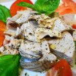 鰹のイタリアンサラダと自家製ジェノベーゼパスタ