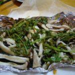 白身魚(ヤマメ)の香草ホイル蒸し