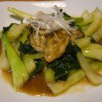 牡蠣と青梗菜のオイスターソース炒め