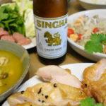タイ料理パーティ グリーンカレー、ネームー、ヤム・ウンセン、ガイ・ヤーン