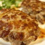 料理 牛肉粗みじんハンバーグとイタリアンパセリのおひたし