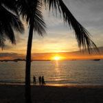 パタヤビーチの夕陽 2015/9 タイ旅行 Beautiful SunSet on the Pattaya Beach