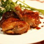 鶏肉の赤ワイン照り焼き