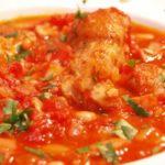 鶏肉と白いんげんのトマト煮