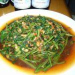 タイ料理 空芯菜炒めとタイ風チャーハン