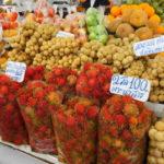 バンコク オートーコー市場(Aor Tor Kor Market or Farmers Market) フルーツ試食、久しぶりのドリアンの美味しさに感激 2015/9月タイ旅行