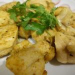 プーパッポンカリーの素で鶏むね肉のタンドリーチキンを作ってみました。