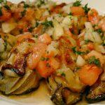 料理 牡蠣のトマトソース