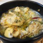 宮島(広島)牡蠣のアヒージョとバターソテー