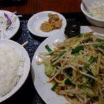 【お出かけランチ】 野菜炒め定食 御徒町 中華 谷記