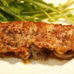 豚肉のマスタードサンド焼き