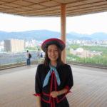 広島「折り鶴タワー」屋上の絶景展望!「ひろしまの丘」は風心地よく素晴らしい眺め!広島平和公園、原爆ドーム、広島城まで!!  HIROSHIMA ORIZURU TOWER