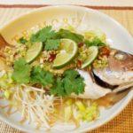 爽やかなライム香るタイの蒸し魚料理「プラー・ヌン・マナオ」(タイ料理 蒸魚のライムソースがけ)今回は鯛で作ってみた