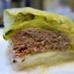 白菜の旨みと豚ミンチとチーズ!ロール白菜ショートケーキ風
