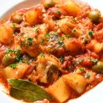鱈とジャガイモのトマト煮込み(メッシーナ風)